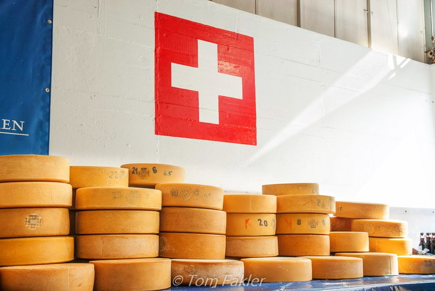Cheese ready for pickup in Wengen