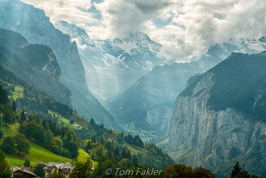 The view from the train station in Wengen