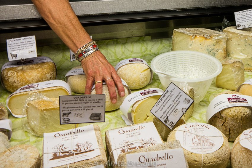 Spoiled for (cheese) choice in Lunigiana!