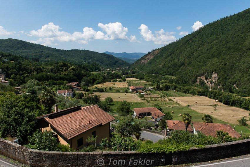 Tidy farms near Fivizzano, Lunigiana