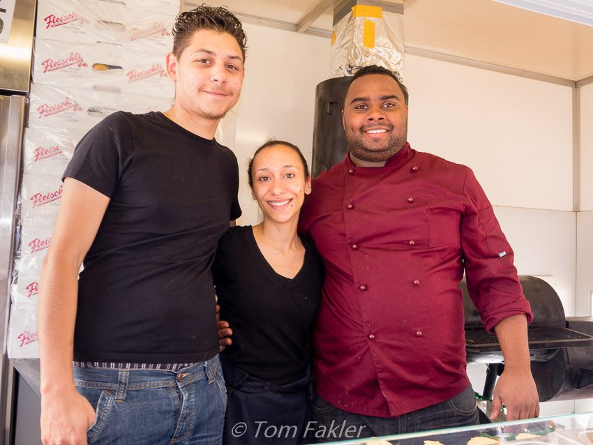 Chef Daniel Capillan and the Stierlis crew at Street Food Festival Basel