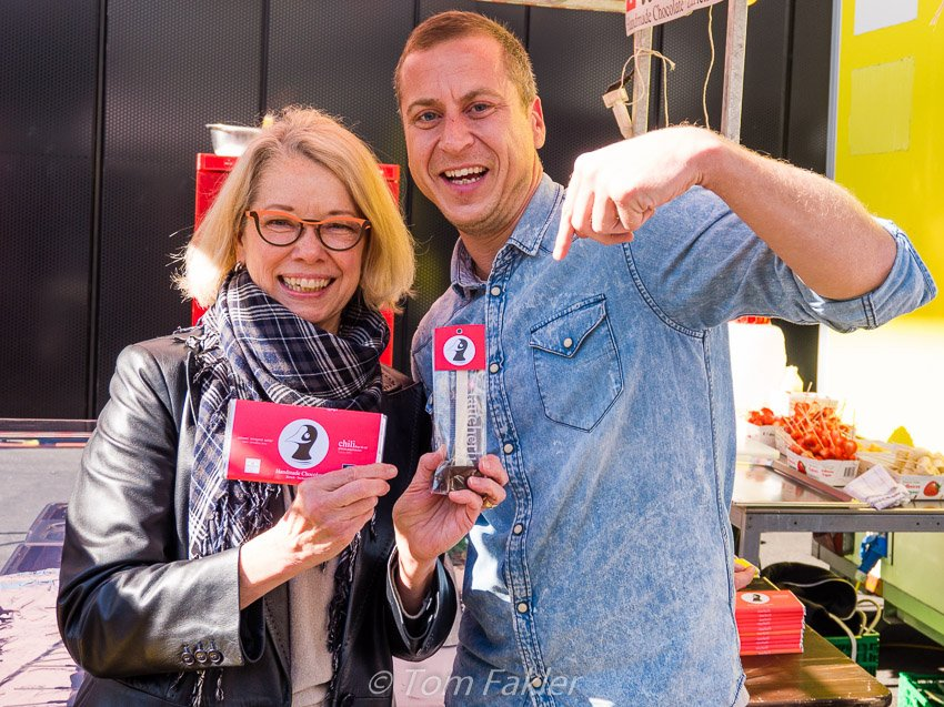 Anita's with Kay Keusen of Taucherli, at Street Food Festival Basel