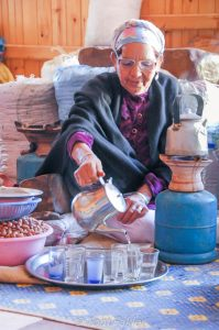 Tea time at an argan cooperative