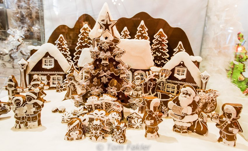 Gingerbread village at the Colmar Christmas market