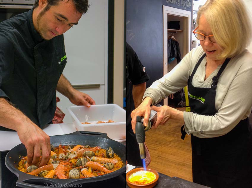 Cooking in a Barcelona kitchen