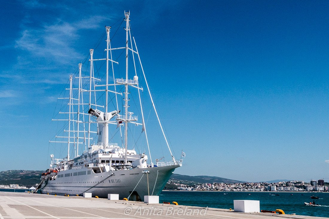 Wind Surf docked in Tangier