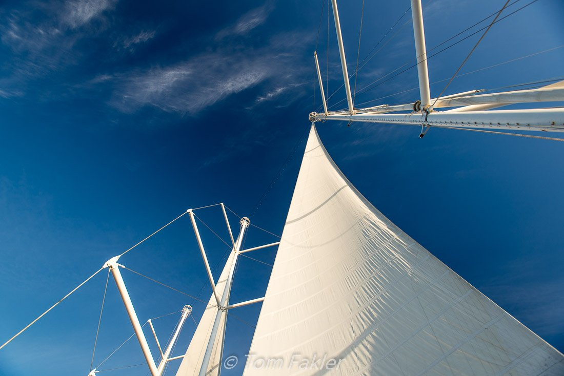 Sails aginst the sky
