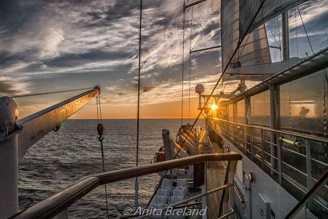 Mediterranean sunset from the Wind Surf's deck