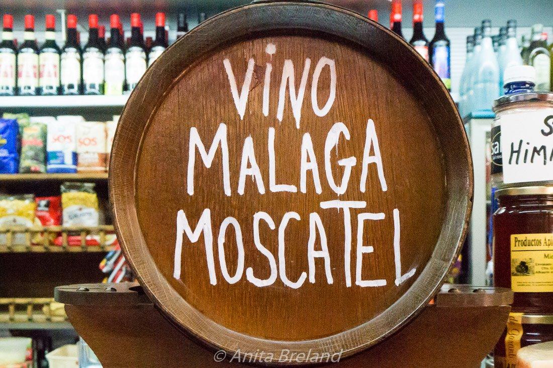 Malaga Moscatel wine