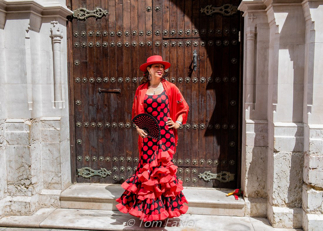 Festive dress in Malaga