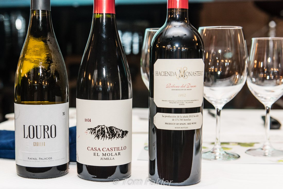 three wines of Spain