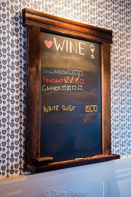 wine chalkboard