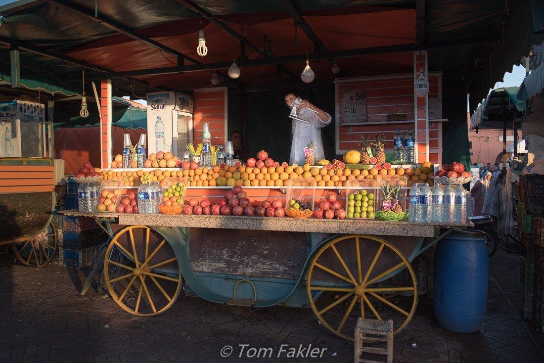 Pomegranates in season, on our Marrakech food tour