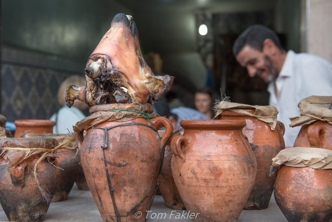 Lamb tangia, a Marrakech tradition, on our Marrakech food tour