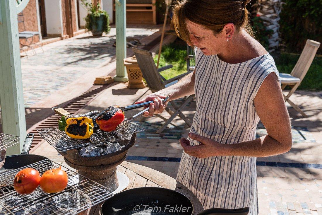 Chef Amanda Belmamoun of Ourika Organic Kitchen and Gardens