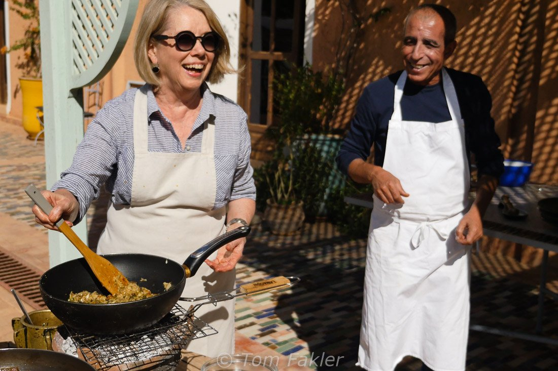Cooking outdoors at Ourika Organic Kitchen and Gardens