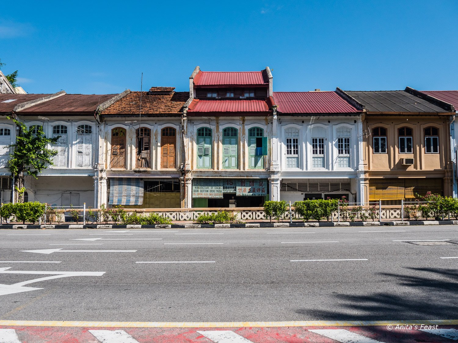 Colonial shophouses in Ipoh