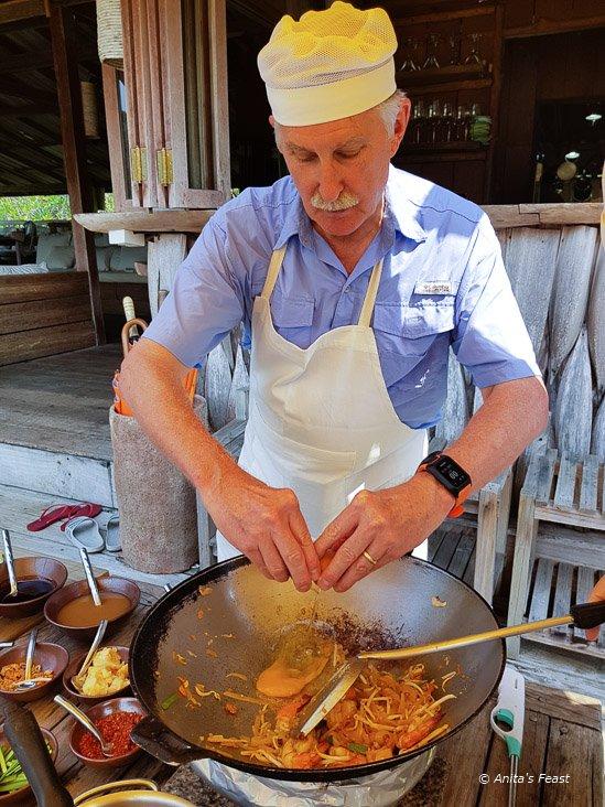 Chef Benz cooking class Kokut Island