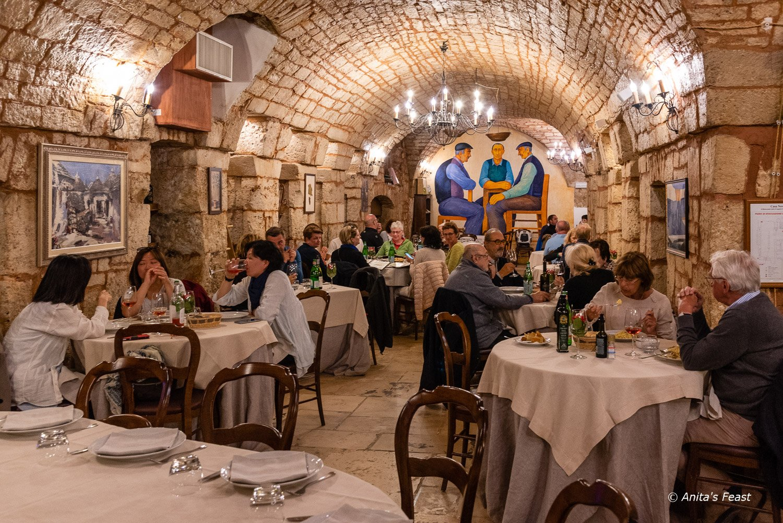 Dinner service at Casa Nova Ristorante, Alberobello, Puglia