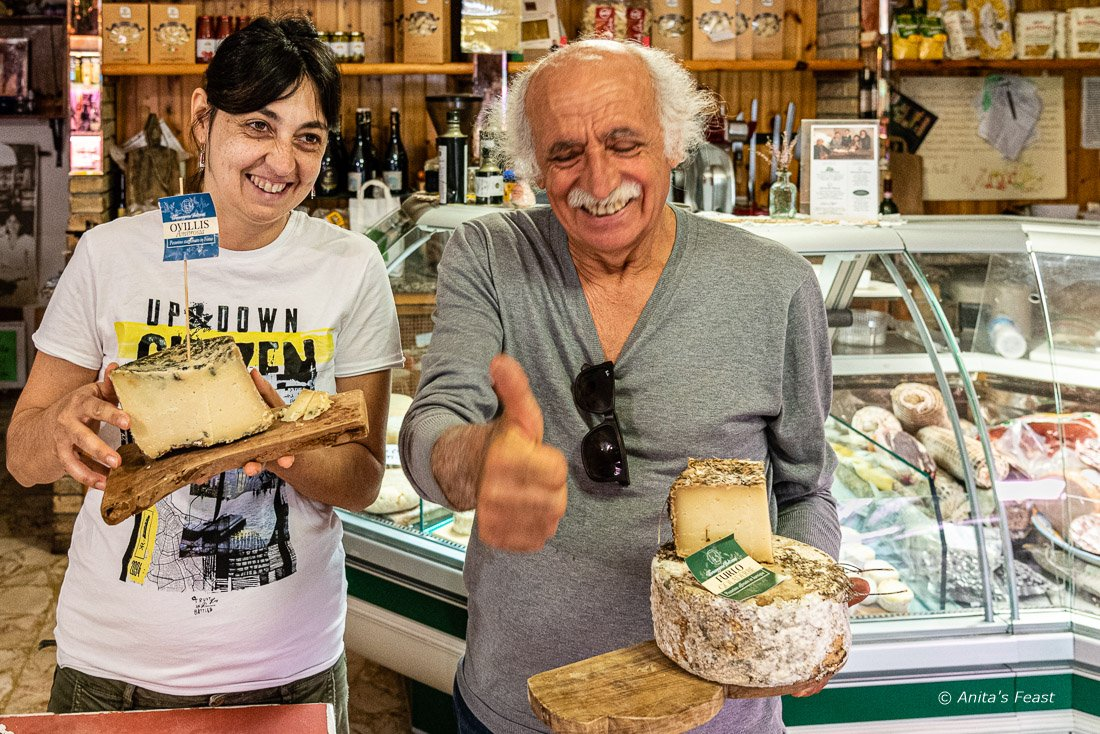 Cristiana and Vittorio Beltrami in the family shop