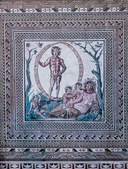 The Aion, a polychrome mosaic floor at Roman Sentinum