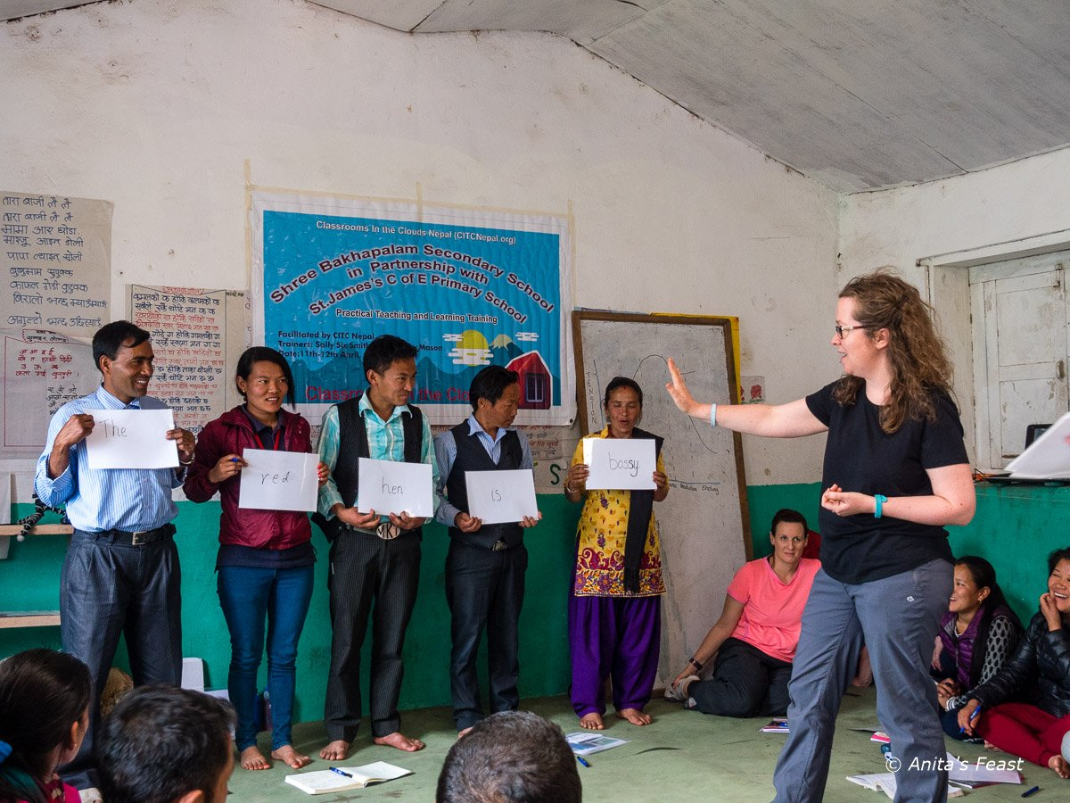 Teacher training in Bakhapalam, Nepal