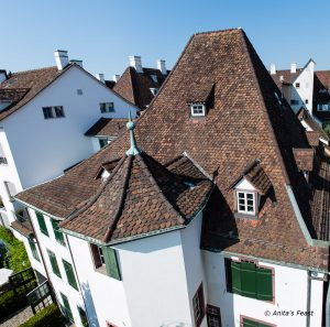 Steep rooftops in Basel, Switzerland's Old Town