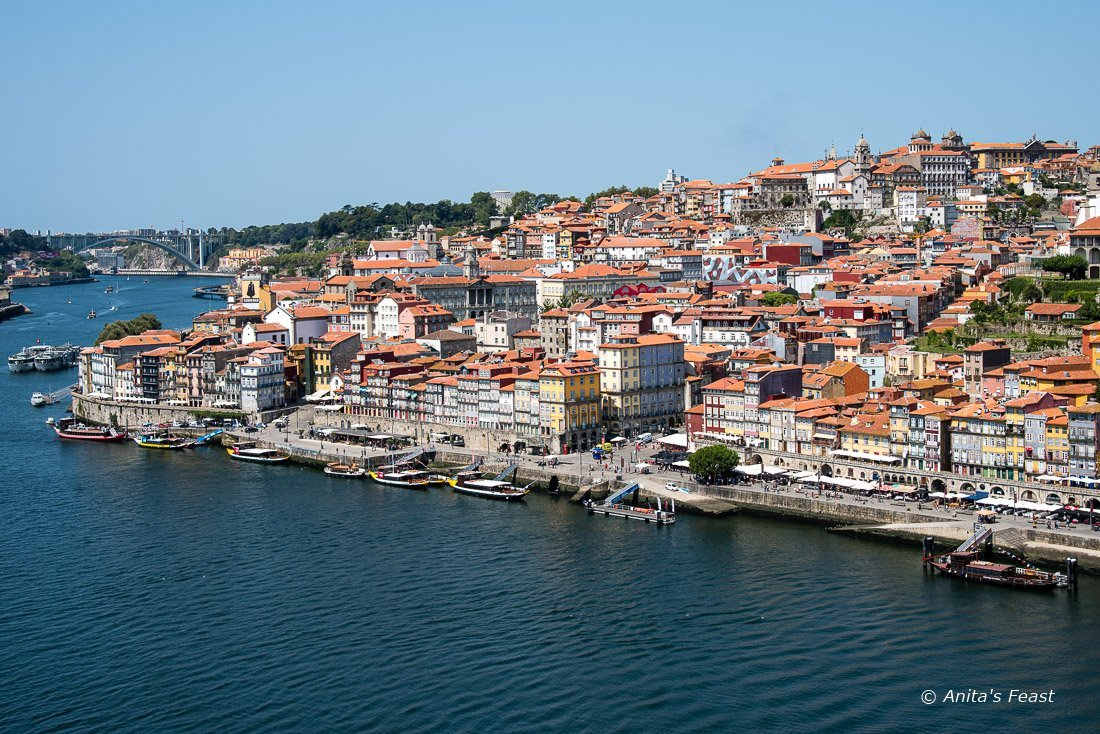 View of Porto, Portugal from Vila Nova de Gaia