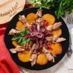 Tuna and sweet potato dish