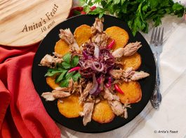 Tuna and sweet potato dish