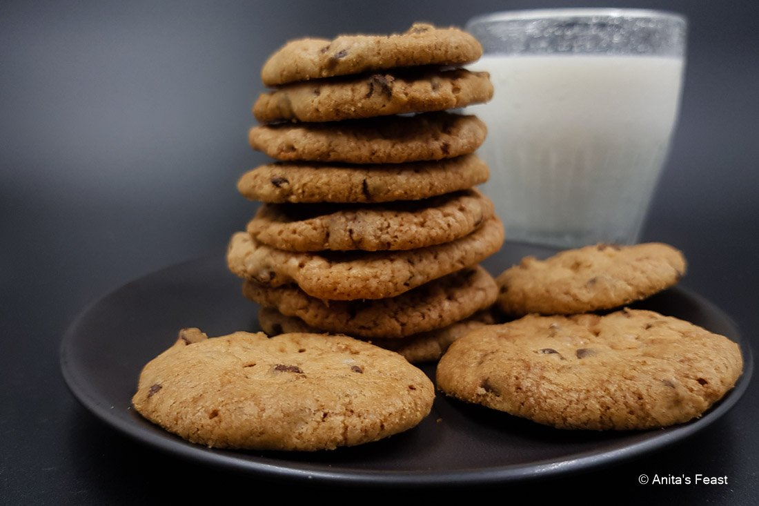 Milk and chocolate chip cookies, fresh from my pandemic kitchen