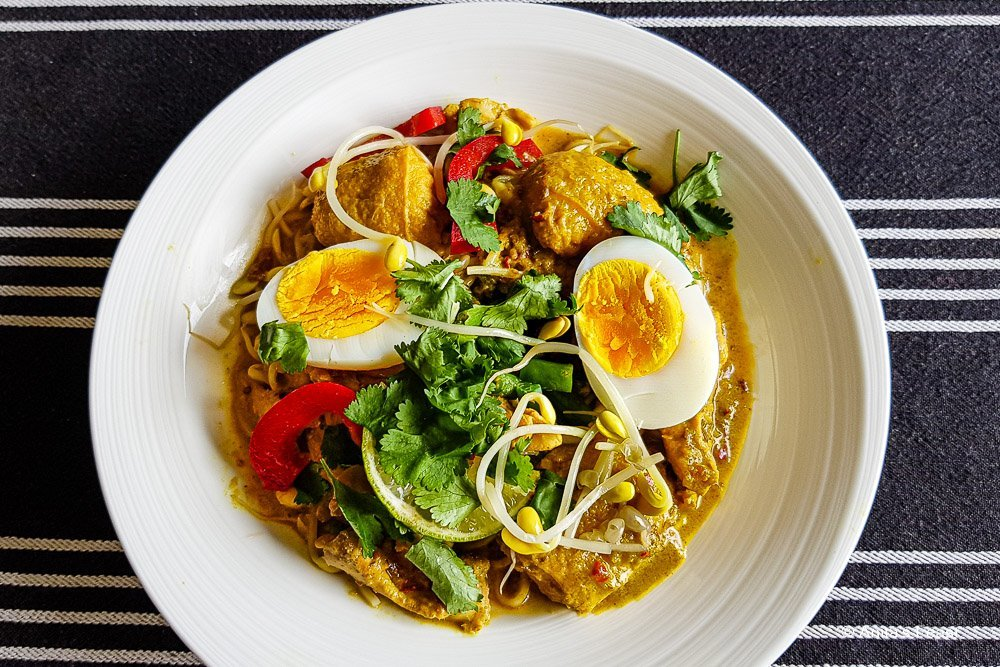 Bowl of Malaysian chicken curry from my pandemic kitchen