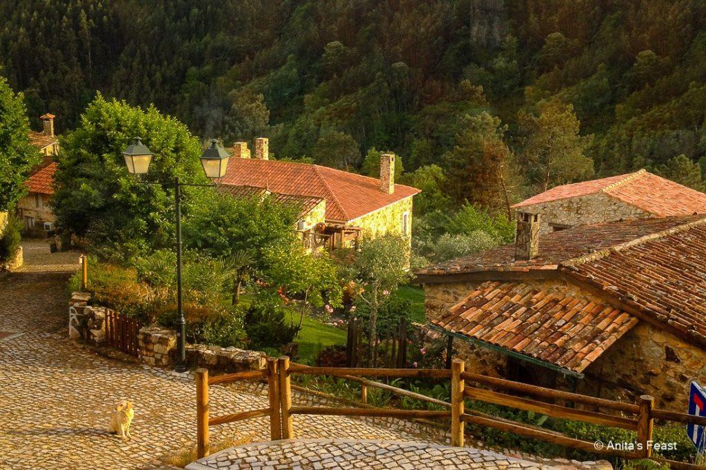 Houses in Casal de São Simão, a schist village in central Portugal